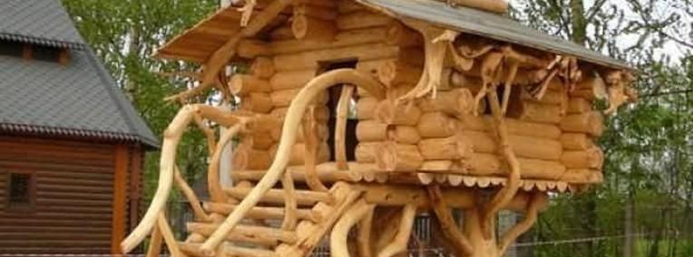 Ukraina. Domy z bala, sarmacki drewniane okna, dachy trzcinowe. Tanio-1