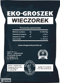 EKO-GROSZEK WIECZOREK 31,5MJ/kg (1tona) PROMOCJA!!!