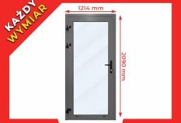 Drzwi Sklepowe, Domowe ALUMINIOWE ZIMNE 1214x2090 mm Tanio