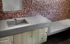 Umywalki betonowe, blaty z betonu architektonicznego, wanny i brodziki z batonu. Wyposażenie łazienek na zamówienie