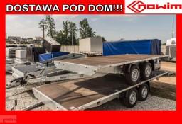15.434/2Nowim wersja PREMIUM Przyczepa ciężarowa towarowa uniwersalna europaletowa platforma hamowana DMC 2700 kg hamulce ALKO AAA ...