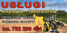 Usługi koparko-ładowarką JCB-3cx 4x4 ŚLASK Tarnowskie Góry woj.śląski