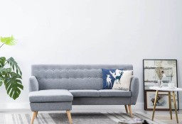 vidaXL Sofa z leżanką, obita tkaniną, 171,5x138x81,5 cm, jasnoszara247024