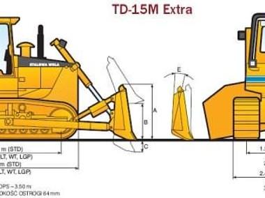 Spychacz, spycharka HSW TD15-M NOWA, STALOWA WOLA-2