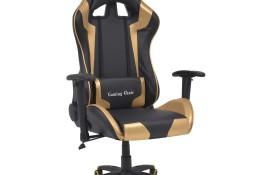 vidaXL Rozkładane krzesło biurowe, sportowe, sztuczna skóra, złote20173