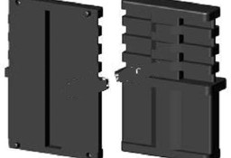 Łącznik plastikowy do profili aluminiowych typ I 60x20, składany,czarny 60x20x2