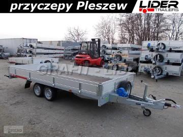 TM-196 przyczepa 454x216x30cm, Carplatform 4521S laweta, platforma, podłoga sklejkowa, burty aluminiowe, koła 13