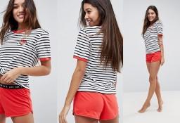 (38) ASOS/ Ekskluzywna, dwuczęściowa, letnia piżama z Londynu/ krótkie dresy po domu/ NOWE