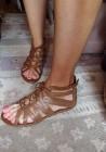 (39) Skórzane sandałki, rzymianki, sandały z Londynu/ jak Nowe