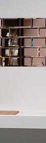 Płytki lustrzane - kafle lustrzane z luster francuskich LUXFORMAT.  Srebrne, złote, miedziane, grafitowe. Fazowane lub proste szlifowane.-3