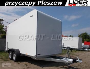 TP-032 przyczepa TFS 420T.00 2,7t, 420x180x200cm, furgon izolowany, kontener, DMC 2700kg