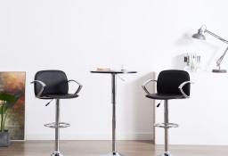 vidaXL Krzesła barowe z podłokietnikami 2 szt., czarne, sztuczna skóra246904