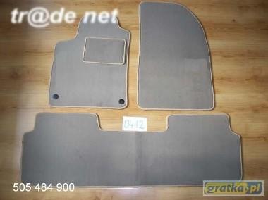 Citroen C5 I oraz C5 II 2000-2007 Liftback/hb najwyższej jakości dywaniki samochodowe z grubego weluru z gumą od spodu, dedykowane Citroen C5-1