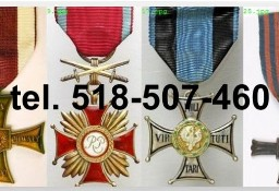 Kupie stare ordery, medale, odznaki,odznaczenia tel.518-507-460