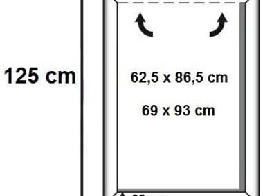 Aluminiowe ramy zatrzaskowe na plakaty wiszące w systemie linkowym-1