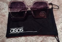 ASOS/Ekskluzywne, duże okulary przeciwsłoneczne + etui/muchy/ NOWE