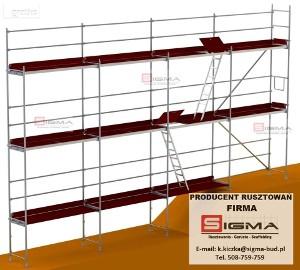 Rusztowanie Rusztowania Systemowe Ramowe Elewacyjne 12,5m x 54m