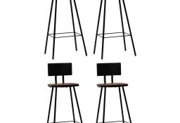 vidaXL Krzesła barowe, 4 szt., lite drewno z odzysku245391