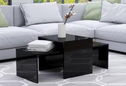 vidaXL Stolik kawowy, wysoki połysk, czarny, 100x48x40cm płyta wiórowa802919