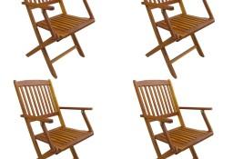 vidaXL Składane krzesła ogrodowe, 4 szt., lite drewno akacjowe 276356