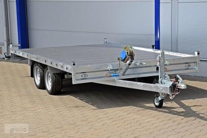Nowa laweta niska płyta alu transport samochodów 400x212x4 cm Blyss 400x212x4 GALAXY