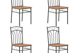 vidaXL Krzesła do jadalni, 4 szt., brązowe, MDF281398