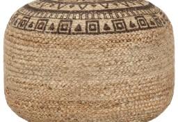 vidaXL Ręcznie robiony puf, brązowy, 45 x 30 cm, juta248088