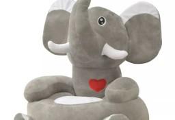 vidaXL Fotel dla dzieci słoń, pluszowy, szary80159