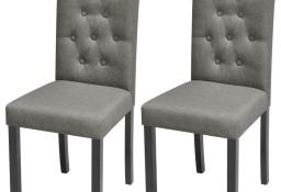 vidaXL Krzesła do jadalni, 2 szt., jasnoszare, tapicerowane tkaniną242223