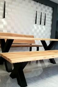 stół dębowy,drewniany do jadalni,lokalu,restauracji -2