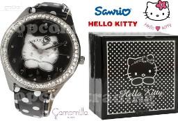 HELLO KITTY London Black Watch ZEGAREK Made in Italia