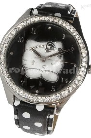 HELLO KITTY London Black Watch ZEGAREK Made in Italia-2