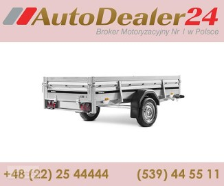 AutoDealer24.pl [NOWA FV Dowóz CAŁA EUROPA 7/24/365] 258 x 128 x 40 cm Brenderup 2260S TILT