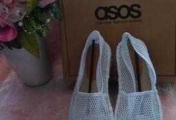 (40) ASOS/Skórzano-siateczkowe espadryle, baleriny/ NOWE