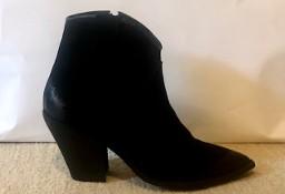 Buty Kowbojki włoskie skórzane czarne rozm. 38 -39