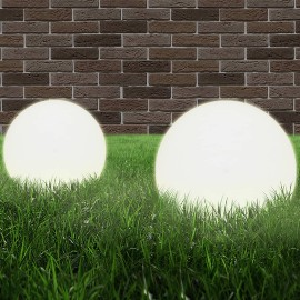 vidaXL Lampy zewnętrzne LED, 2 szt., kule 30 cm, PMMA 50656