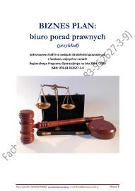 BIZNESPLAN biuro porad prawnych (przykład) 2018