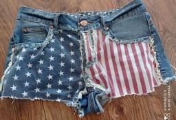 Spodenki flaga ameryki jeansowe rozm 36 S