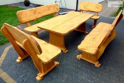 Meble ogrodowe ,ławka,stół ,Hustawka ,barowe ,drewniane, do lokali