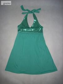 H&M Tunika Sukienka Cekiny CUDO 42 XL