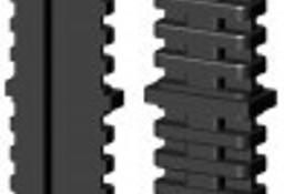 Łącznik plastikowy do profili aluminiowych typ I 50x20,czarny, składany 50x20x2