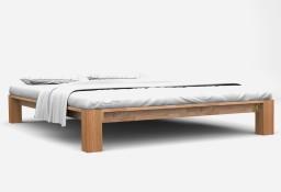 vidaXL Rama łóżka z litego drewna dębowego, 140 x 200 cm 247267
