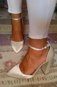 (40) ASOS/Ekskluzywne buty ślubne/ czółenka w szpic/ 25,5 cm/ NOWE-2