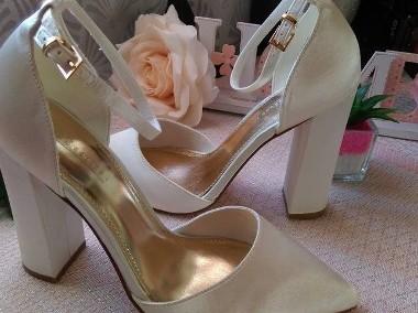 (40) ASOS/Ekskluzywne buty ślubne/ czółenka w szpic/ 25,5 cm/ NOWE-1