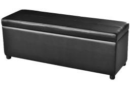 Drewniana ławka ze schowkiem, czarna241063