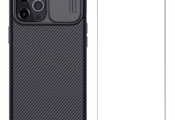 Etui Nillkin z osłoną aparatu + Szkło Hartowane do iPhone 12 , 12 Pro