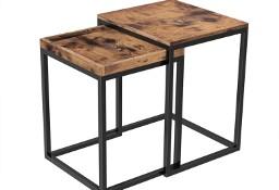 Zestaw 2 stolików industrialnych. Loft, ława rustykalna 2w1