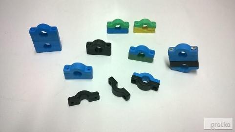Uchwyty plastikowe do rurek 14mm