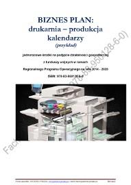 BIZNESPLAN drukarnia – produkcja kalendarzy 2018 (przykład)