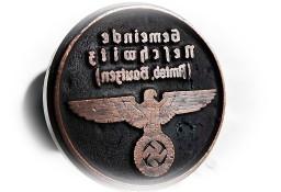 Stara pieczęć drewniana Gapa niemiecka Duża Wrona Hitler
